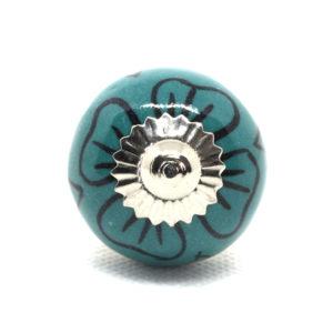 Petit bouton de meuble fleuri
