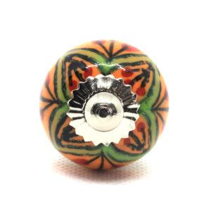 Petit bouton de meuble motifs colorés