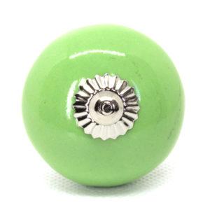 Grand bouton de meuble vert clair
