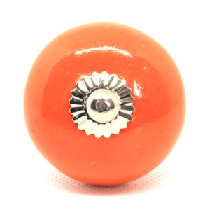 Grand bouton de meuble orange uni