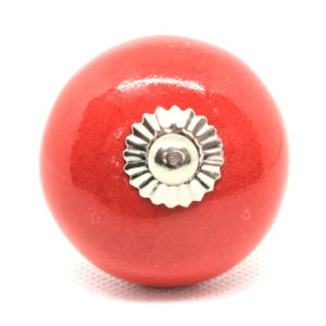 Grand bouton de meuble rouge uni