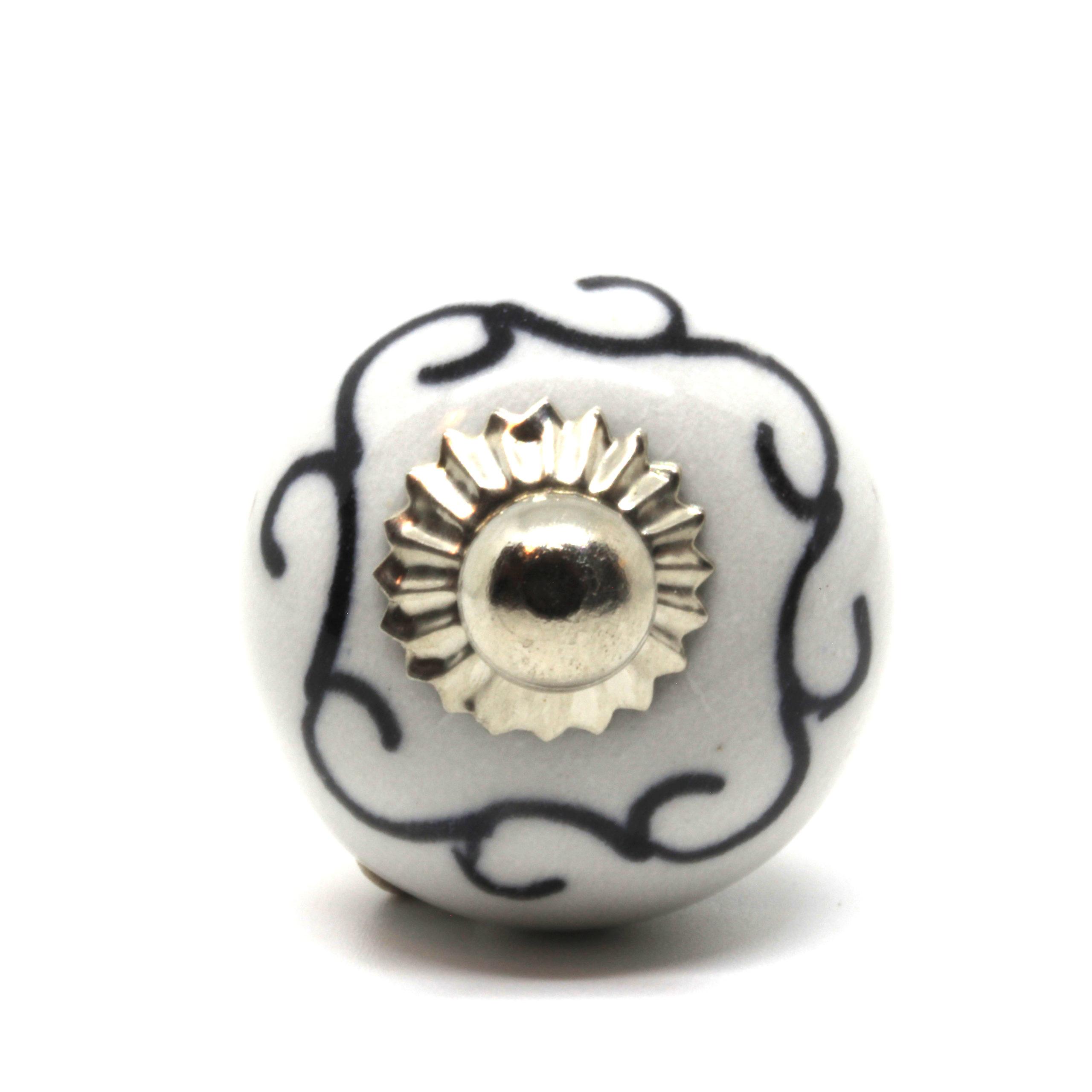 Petit bouton de meuf noir et blanc
