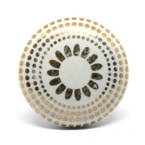 Bouton de meuble plat doré