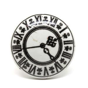 Bouton de meuble vintage montre