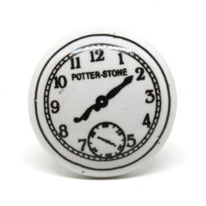 Poignée de meuble vintage horloge